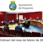 Ple Ordinari de l'Ajuntament de Roquetes del mes de febrer de 2021