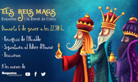Recepció de l'Alcalde de Roquetes als Reis Mags d'Orient