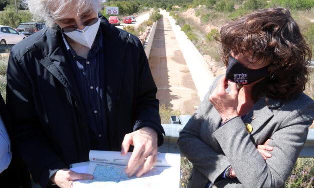El canal de rec Xerta-Sénia regarà en dos anys 190 ha de cultiu a Xerta i Aldover