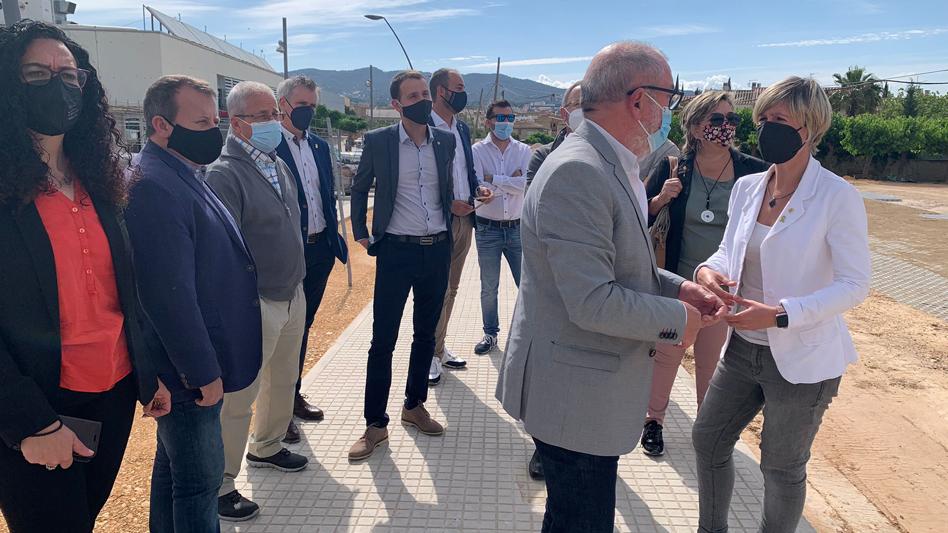 La presidenta de la Diputació de Tarragona, Noemí Llauradó, visita Roquetes per conèixer les obres realitzades amb el suport de l'entitat