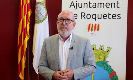 Festes Majors de Roquetes 2021, Salutació de l'alcalde de Roquetes, Paco Gas