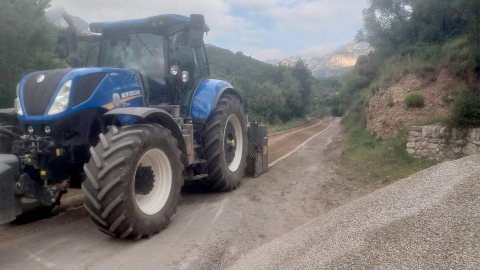 L'Ajuntament de Roquetes inicia les obres d'arranjament d'un tram de 1,2km del Camí de Lloret