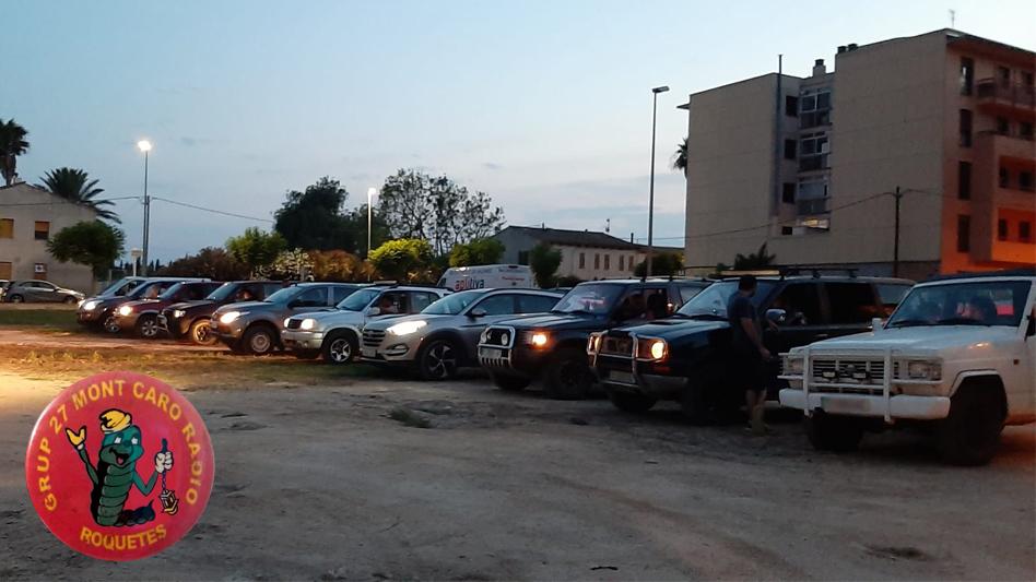 """15 vehicles de radioaficionats participen en la """"Cacera de la Guinau"""" organitzada pel Grup 27 Montcaro Ràdio a les Festes de Roquetes"""