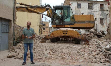 A mitjan mes de setembre estaran enllestides les obres d'obertura del carrer Murall al nucli antic de Roquetes