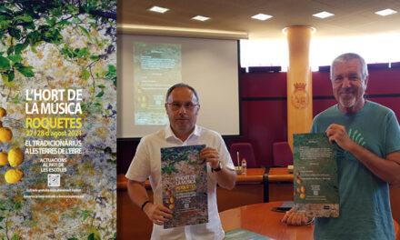 Presentació de l'Hort de la Música Roquetes 2021, el Tradicionàrius a les Terres de l'Ebre, 27 i 28 d'agost
