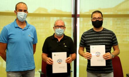 Signatura del conveni 2021 entre l'Ajuntament de Roquetes i el Club Voleibol Roquetes