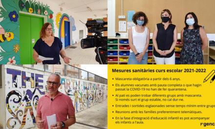 Inici del nou curs 2021-22 als centres educatius de Roquetes