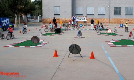 Setmana de la Mobilitat Sostenible 2021 a l'escola Mestre Marcel·lí Domingo de Roquetes